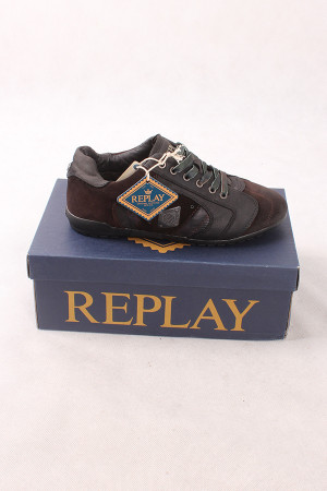 REPLAY RS20010L PRESS DK Brown/Black